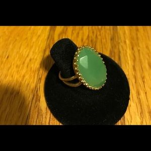 Stella & Dot Green Stone Ring
